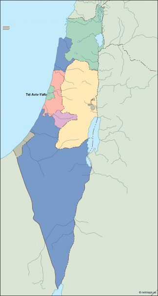 israel vector map