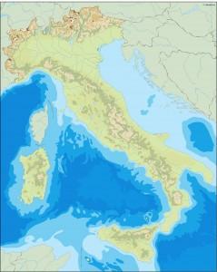 italy illustrator map