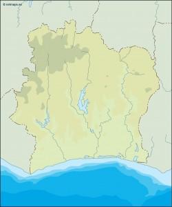 ivory coast illustrator map