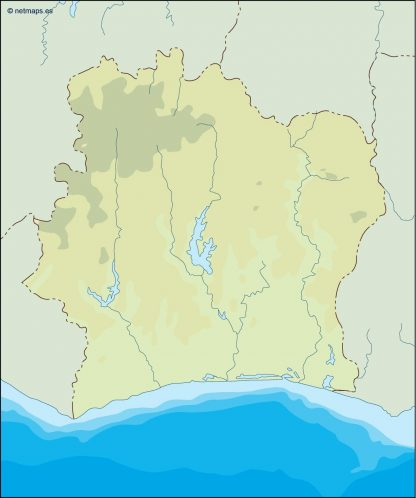 ivory coast illustrator map