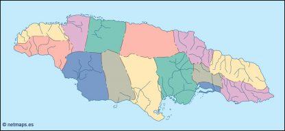 jamaica blind map