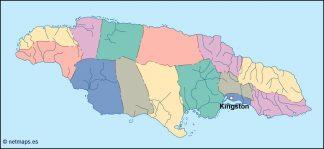 jamaica vector map