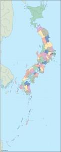 japan vector map