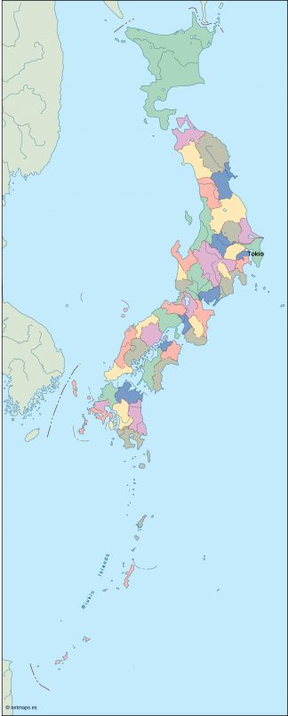 japan vector map