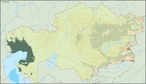 kazajstan illustrator map