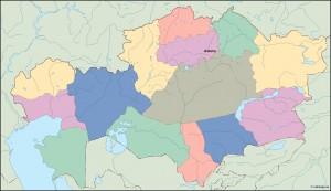 kazajstan vector map