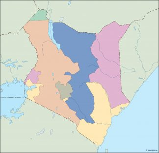 kenya blind map