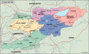 kirgizistan political map