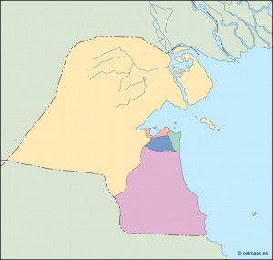 kuwait blind map