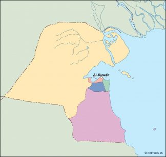 kuwait vector map