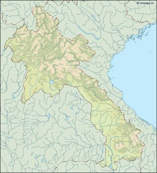 laos illustrator map