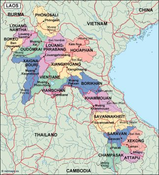laos political map