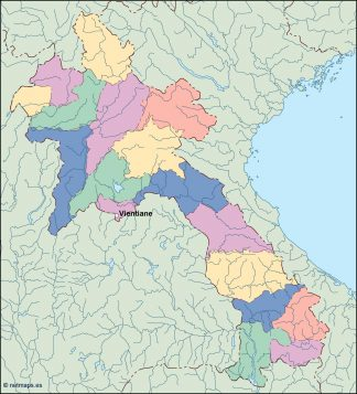 laos vector map