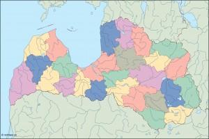 latvia blind map