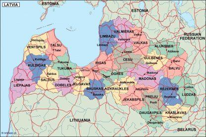 latvia political map