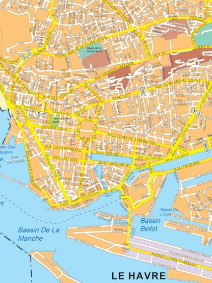 le havre vector map