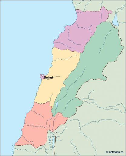 lebanon vector map