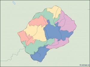 lesotho blind map