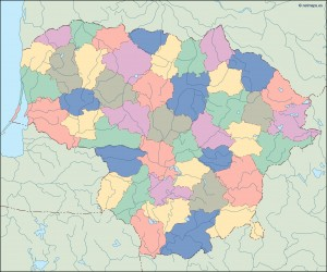 lithuania blind map