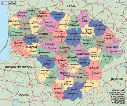 lithuania political map