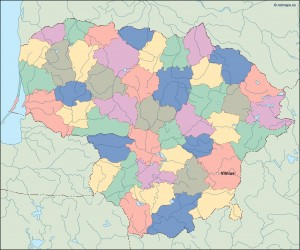 lithuania vector map