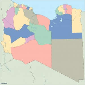 lybia blind map