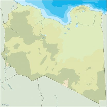 lybia illustrator map