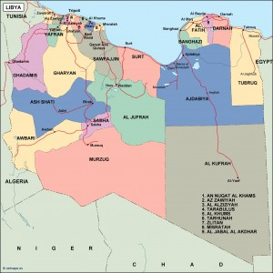 lybia political map