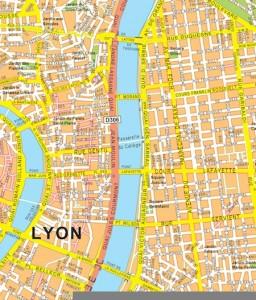 lyon vector map