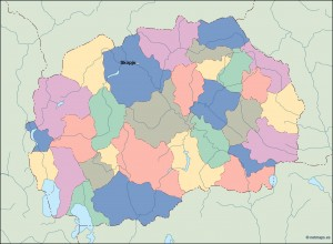 macedonia vector map