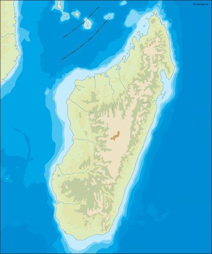madagascar illustrator map
