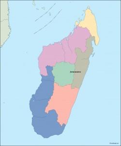 madagascar vector map