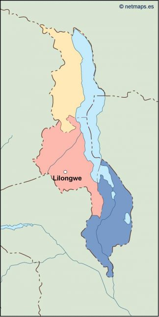 malawi vector map