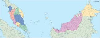 malaysia blind map