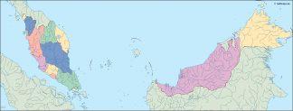 malaysia blind map