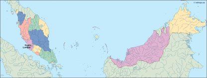 malaysia vector map