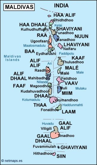 maldives political map