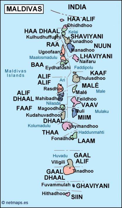 maldives political map