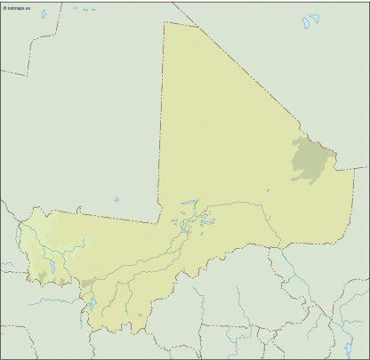 mali illustrator map