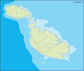 malta illustrator map