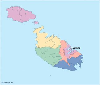 malta vector map