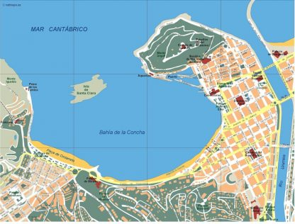 mapa donostia