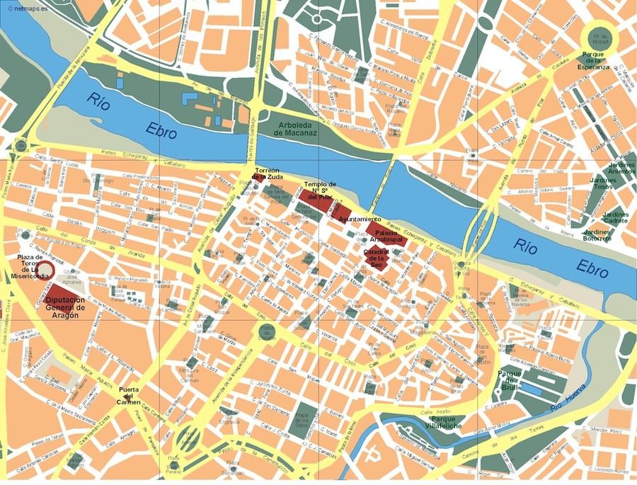 zaragoza mapa mapa zaragoza – Netmaps. Mapas de España y del mundo zaragoza mapa