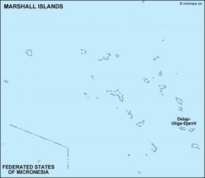 marshall islands political map