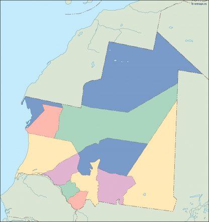 mauritania blind map