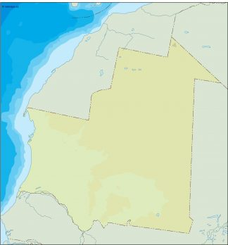 mauritania illustrator map