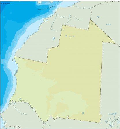 mauritania illustrator map
