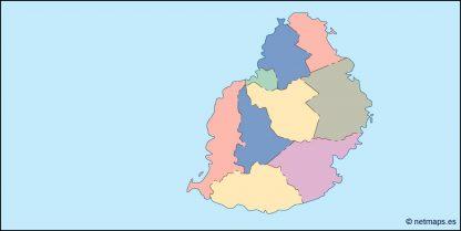 mauritius blind map