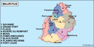 mauritius political map