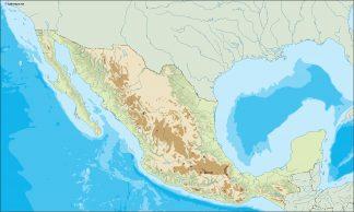 mexico illustrator map